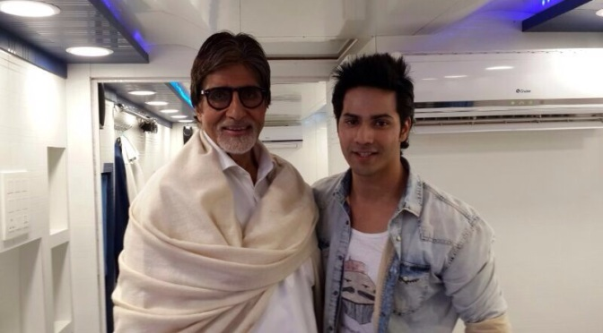 Varun Dhawan meets Mr. Bachchan