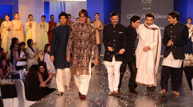 Akshay Kumar walks the ramp at Mijwan Fashion Show