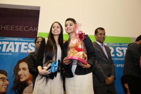 Alia and contest winner