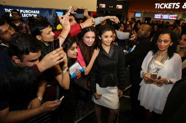 Alia with fans