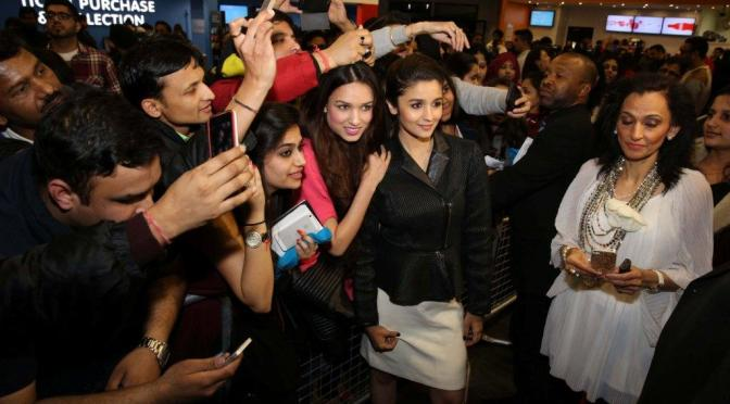 Photos: Alia and Arjun at Cineworld, Feltham