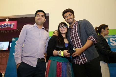 Arjun Kapoor with contest winners