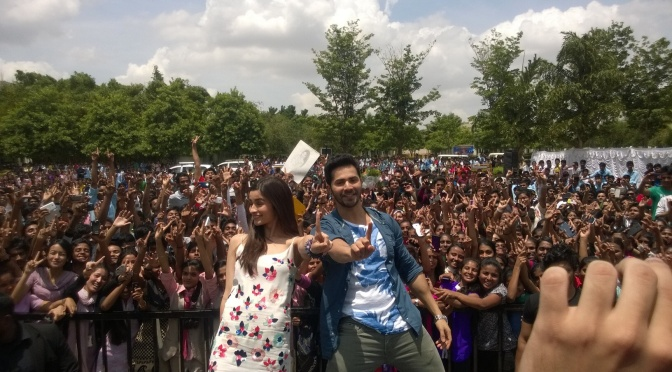Photos: Varun Dhawan and Alia Bhatt in Bangalore