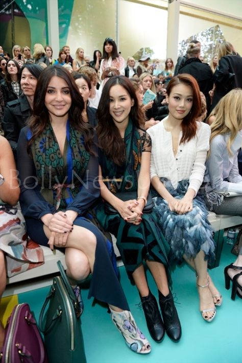 Anushka Sharma, Ko So Young, Joey Yung at the Burberry Prorsum Spring_Summer 2015 Show