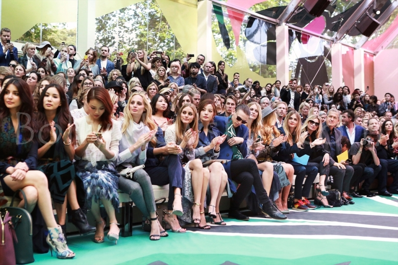 Front Row at the Burberry Prorsum Spring_Summer 2015 Show