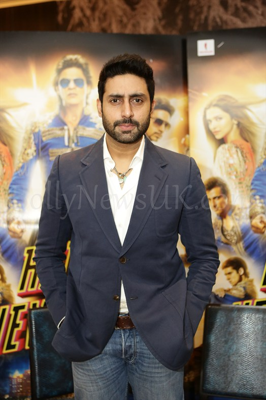 Abhishek Bachchan at Happy New Year promotions in London