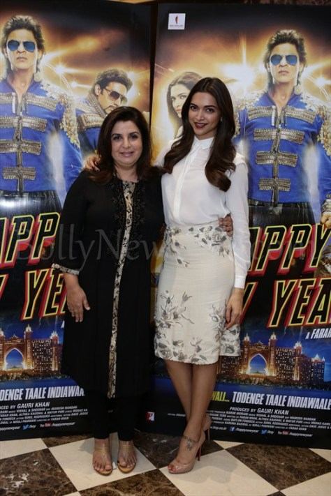 Deepika and Farah at Happy New Year promotions in London
