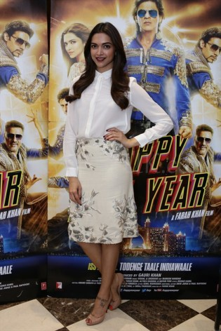 Deepika Padukone Happy New Year promotions in London