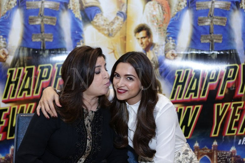 Farah Khan and Deepika at Happy New Year promotions in London