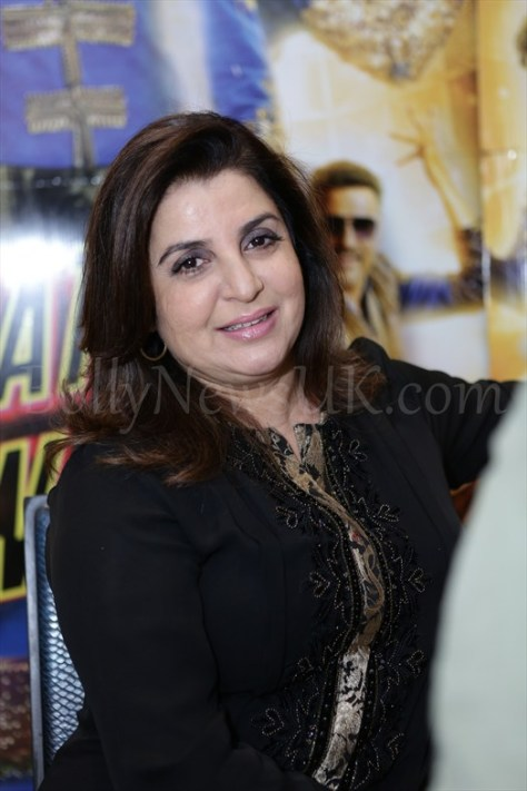 Farah Khan at Happy New Year promotions in London