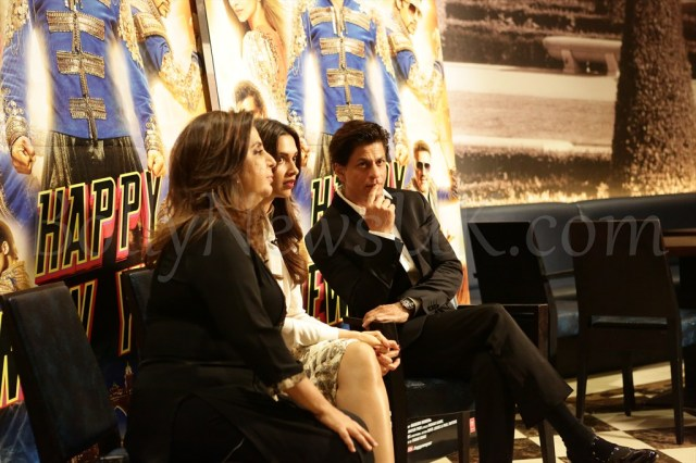 Farah Khan, Deepika Padukone and Shah Rukh Khan at Happy New Year promotions in London