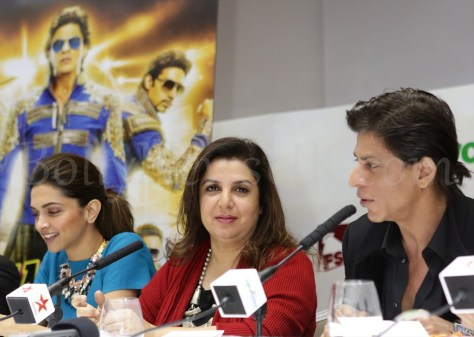 Shah Rukh Khan, Deepika and Farah Khan Happy New Year SLAM Press Conference in London (2)