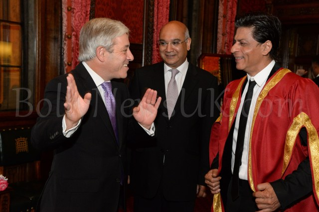 Speaker  Rt Hon John Bercow, Rt Hon Keith Vaz MP and Shah Rukh Khan at Britain's House of Commons in London DSC_5814
