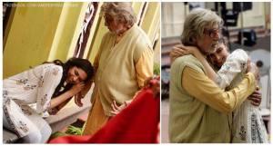 Piku On The Set - Amitabh Deepika