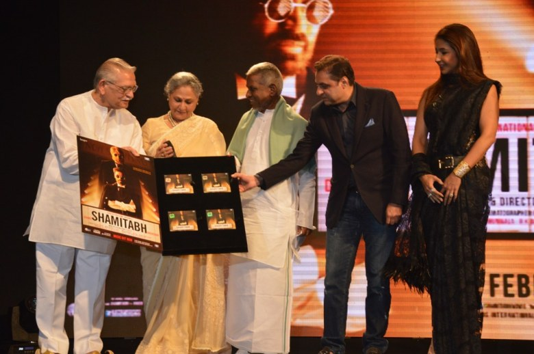 Shamitabh Music Launch Jaya Bachchan Gulzar