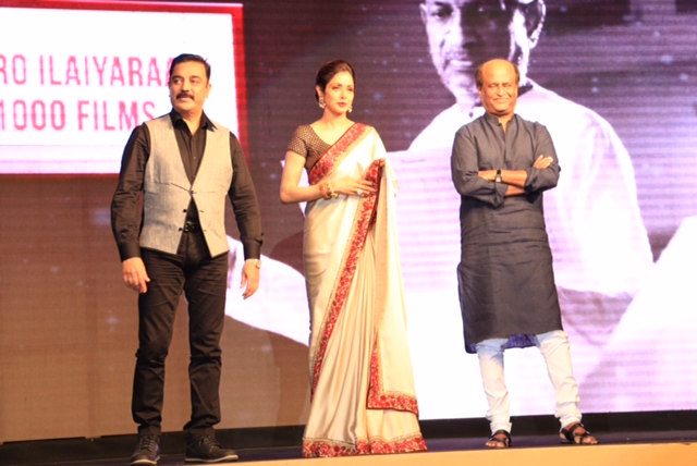Shamitabh Music Launch Sridevi, Rajnikanth, Kamaal Hassan