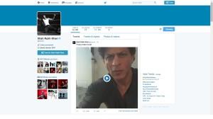 SRK TWITTER SCREEN SHOT