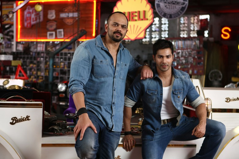 ROHIT SHETTY AND VARUN DHAWAN ON DAY ONE SHOOT OF DILWALE 675C7015