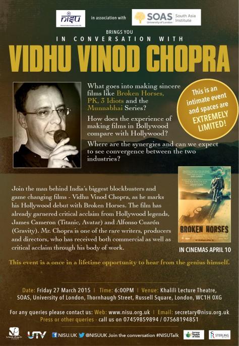 Vidhu Vinod Chopra London SOAS