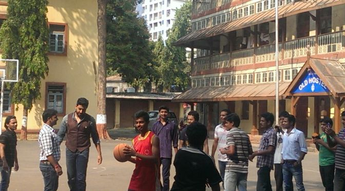 Spotted: Abhishek Bachchan involves students in a spontaneous game of basketball