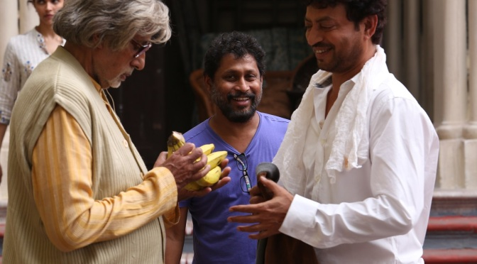 Big B and Irrfan go Bananas on the sets of 'Piku'