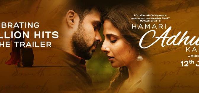 Watch Trailer: Hamari Adhuri Kahani