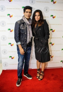 Manish Malhotra with British Asian Trust ambassador, actress Laila Rouass (2)