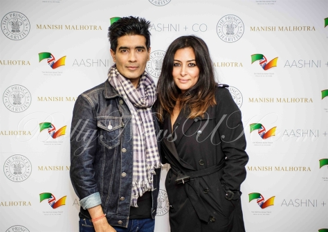 Manish Malhotra with British Asian Trust ambassador, actress Laila Rouass