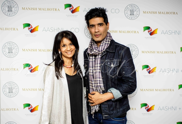 Manish Malhotra with British Asian Trust ambassador, TV presenter Sonali Shah
