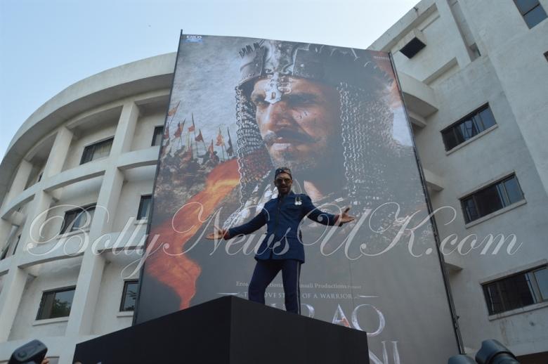 Bajirao Mastani -Ranveer Singh poster launch (1)