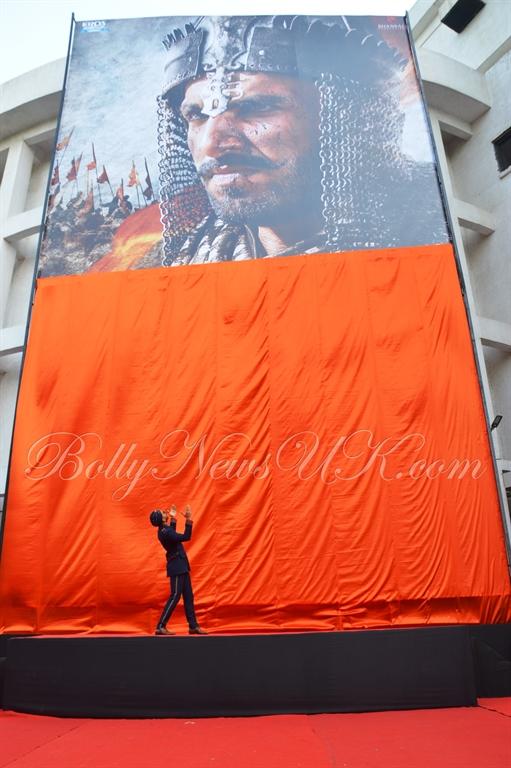 Bajirao Mastani -Ranveer Singh poster launch (2)