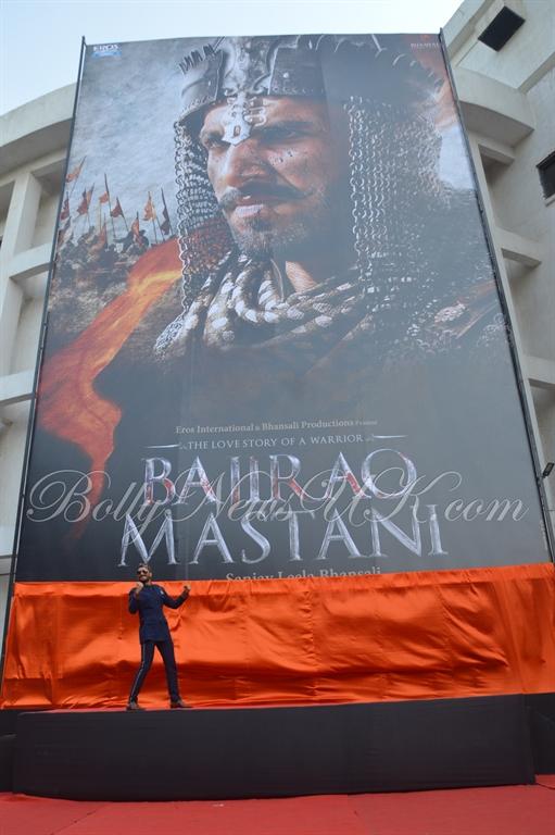 Bajirao Mastani -Ranveer Singh poster launch (3)