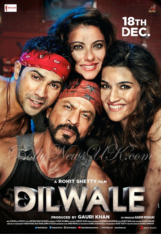 Meet Dilwale in London. Shah Rukh Khan, Varun Dhawan, Kajol, Kriti Sanon. Feltham Cineworld.