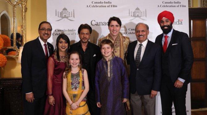 Canadian PM Justin Trudeau meets Shah Rukh Khan