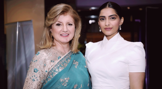 Sonam K Ahuja in conversation with Arianna Huffington for Thrive Global India